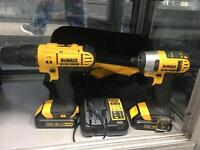 Dewalt drill & impact driver set , with charger & bag (DCD776 & DCF885)
