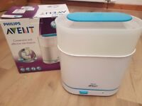Philips Avent 3 in 1 Electric Steam Steriliser and accessories