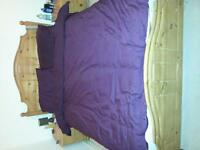 double bed and mattress for sale.