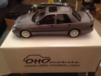 Ford Sierra 4x4 Cosworth, met.-light-blue-grey , 1990, Model Car, Ready-made, Ottomobile 1:18