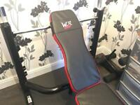 Weight bench brand new and 2 plates