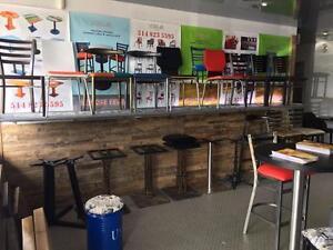 Chaises / Tables / Bases de Tables / Banquettes / Tabourets de Restaurant / Bar/ Cafe / Bistro / Pub   Tel:(438)990-2355