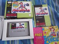 Kid Klown in Crazy Chase Super Nintendo Game Complete SNES PAL Collectors Condition Fantastic VGC
