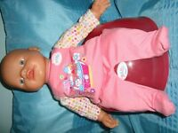ZAPF CREATION MY FIRST BABY BORN CLOTHES AND POTTIE VGC