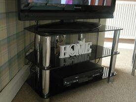 For Sale black glass tv unit/4 tear corner unit/small phone table