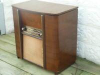 Vintage 1950's Flip top Radiogram and Turntable