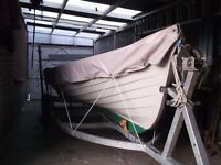 WANTED TRAILER FOR 19FT SHEELIN LOUGH / LAKE BOAT SAME TYPE AS PHOTO ALSO BOAT COVER FOR SAME