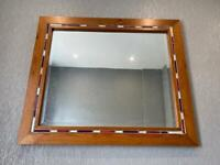 Solid wood surround mirror