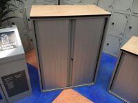 Office Storage Cupboard/Tambour Unit 108cm High/Techo Tambour Office Cupboard