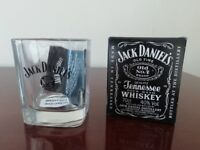 Jack Daniels whiskey glass