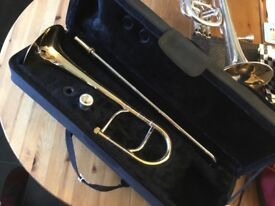 Eb trombone for a child. / brassband