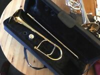 Eb trombone for a child. / brassband