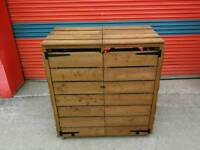 Double wheelie bin storage/recycling containers