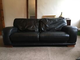 Barker and Stonehouse black leather 3 seater sofa for sale £80 ono
