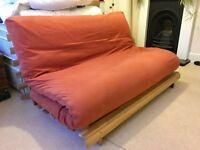 FUTON COMPANY Double Futon Sofa Bed, Hardwood Base