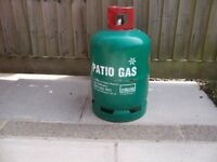 Empty calor patio gas cylinder.