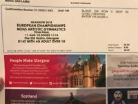 4 tickets Gymnastics European Championships - men's team final