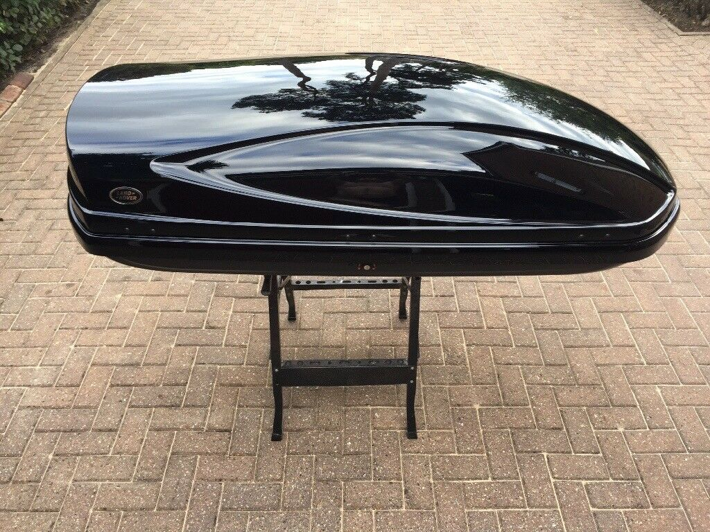 Genuine Oem Land Rover Luggage Roof Box In Gloss Black
