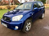 Toyota RAV4 4 xt-3 2004/54 very low mileage,fsh,2 keys,leather,p-ex welcome,aa/rac welcome