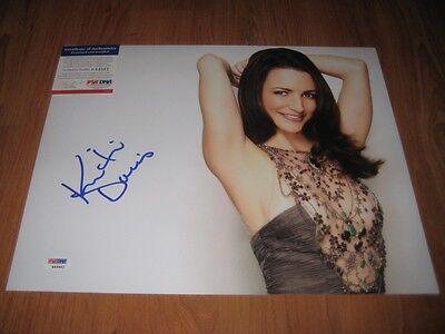 Kristin Davis Signed 11X14 Photo Psa Sex In The City 2