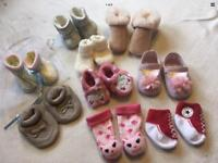 Baby Girls Shoes 0 To 0-3-6 Months Bundle 9 Items New And Used £8