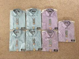 "M & S Shirts x 7 - 14"" COLLAR - NEW - £30 ovno"