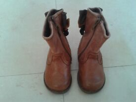 NEXT - Girls Tan Leather Boots