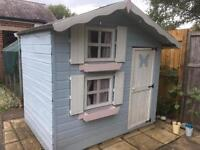 Wooden playhouse - two storey