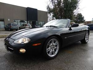 2002 Jaguar XK XK8 -- CONVERTIBLE -- BLACK ON BEIGE -- LOW KM