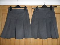 x 2 Marks and Spencer grey school uniform skirts age 9 years