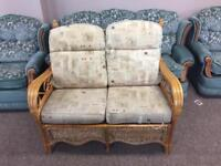 Wicker conservatory furniture 2 seater sofa and 2 chairs