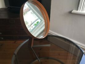 Vintage Durlston Designs Robert Welch Vanity Mirror 1960s Atomic Steel Teak