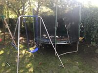 Trampoline and a swing