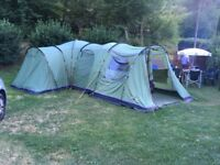 Vango Kasari 800 Family Tent, up to 8 People, inc Footprint, Carpet & Front Canopy Great condition