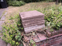 FREE concrete slabs 9off 600mm x 600mm x50mm ready to collect