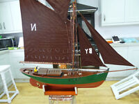 Model boat for sale.