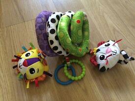 Lamaze spiral car seat toy