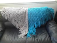 Hand knitted trianle shawls