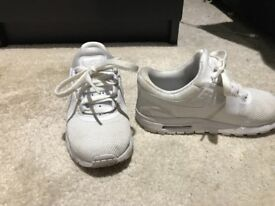Nike white trainers kids size 10