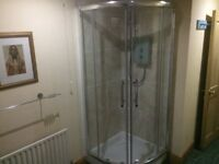 shower tray procelain 900mm with curved doors perfect working order in sink toilet bath bathroom