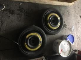 Spare wheels (space saver, vw, steel wheels)