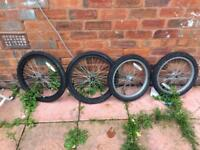 2 rear and front bmx and kids bike tyres
