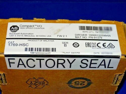 FACTORY SEALED Allen Bradley 1769-HSC /B High Speed Counter YEAR DATES VARY