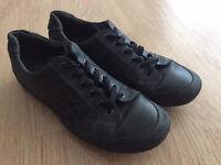 Ecco black men's shoes trainers UK size 9-9.5
