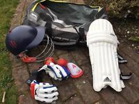 Full cricket equipment