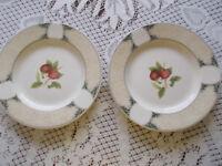 2 x Arthur Woods dinner plates