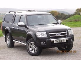 2008/58 FORD RANGER THUNDER DOUBLE CAB. 56000 MILES, LEATHER,HISTORY, CANOPY