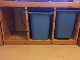 IKEA Storage unit with pull out tubs