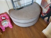 Snuggle chair with foot stool