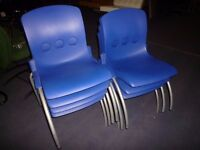 Set of 12 Junior Size Plastic Chairs